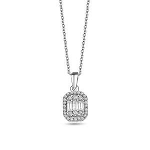 Baguette-Schliff Halsketten