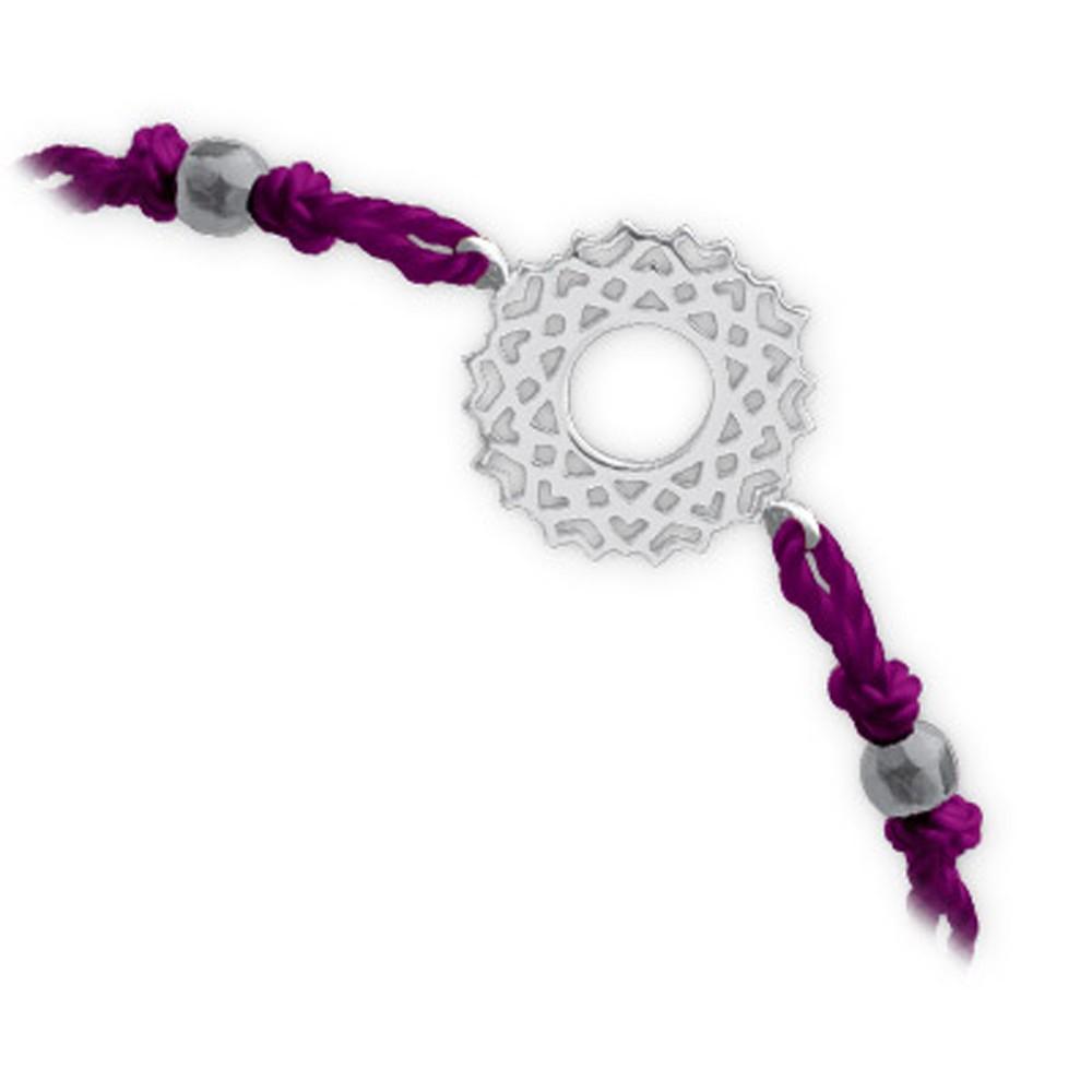 Das Kronenchakra Silber Armband