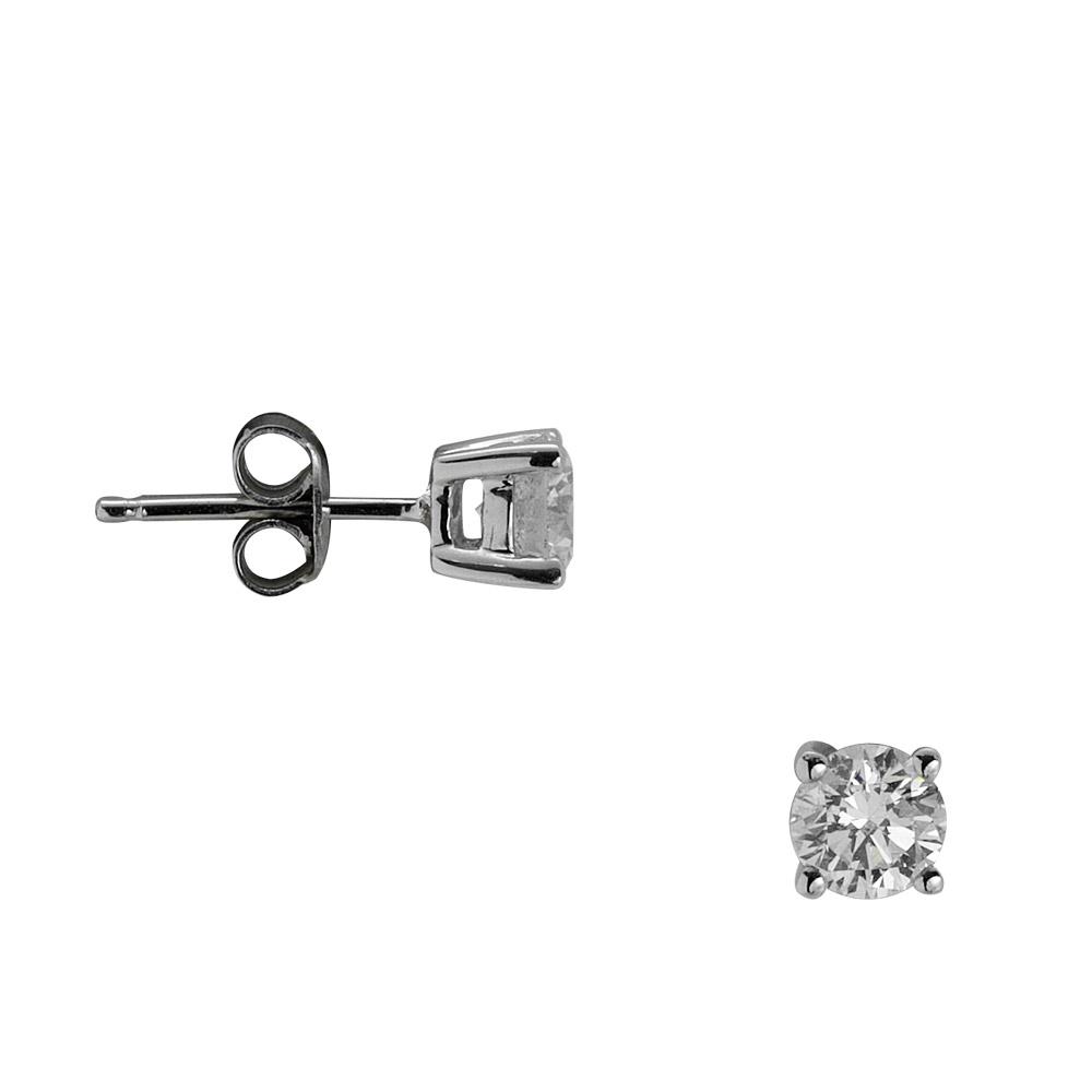 0,80 ct  Diamant Solitärohrring