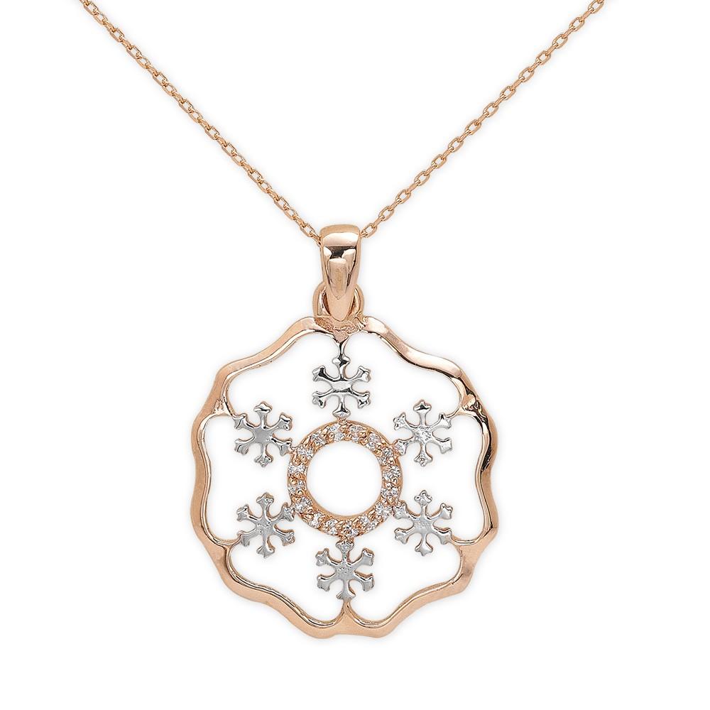 Schneeflocken Diamant Kette