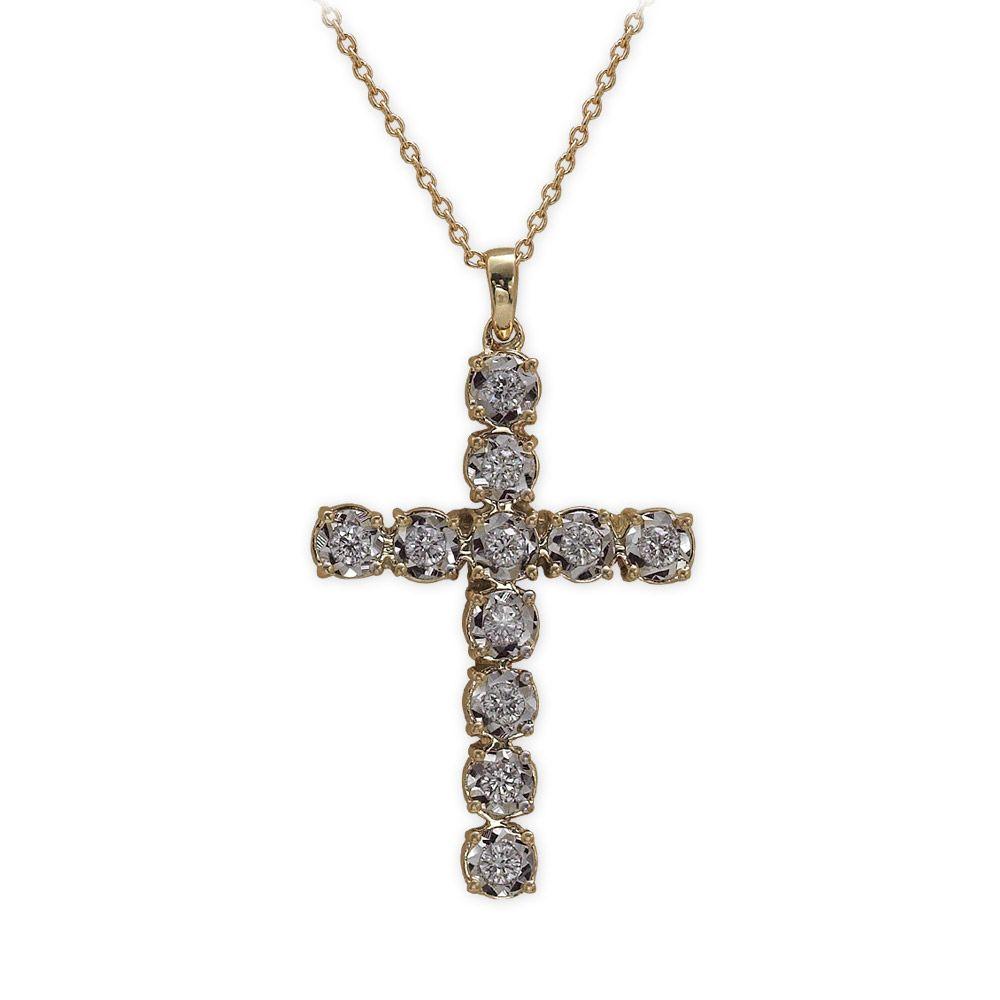 0,35 ct Diamant Miracle Kreuz Kette