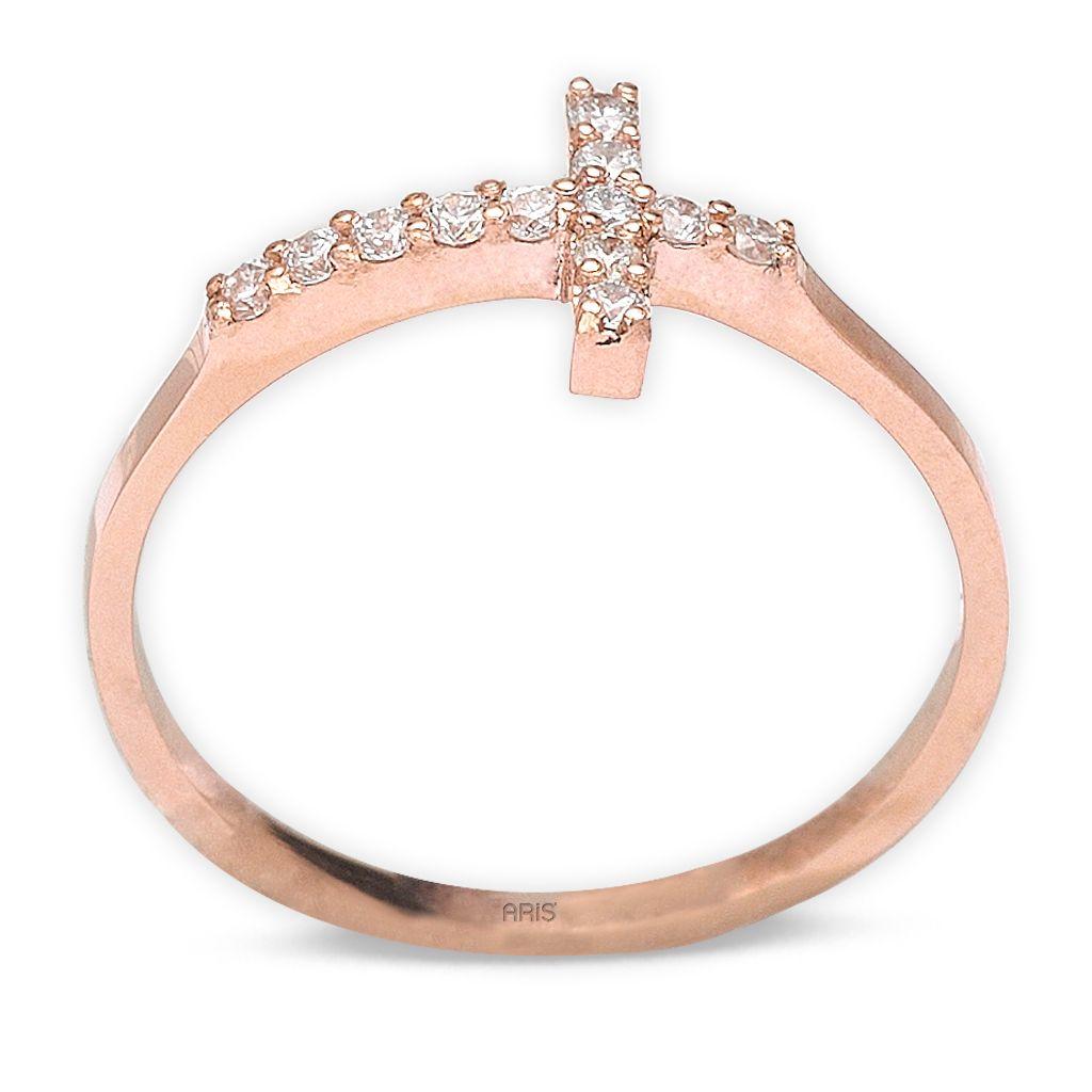0,15 ct  Kreuz Ring