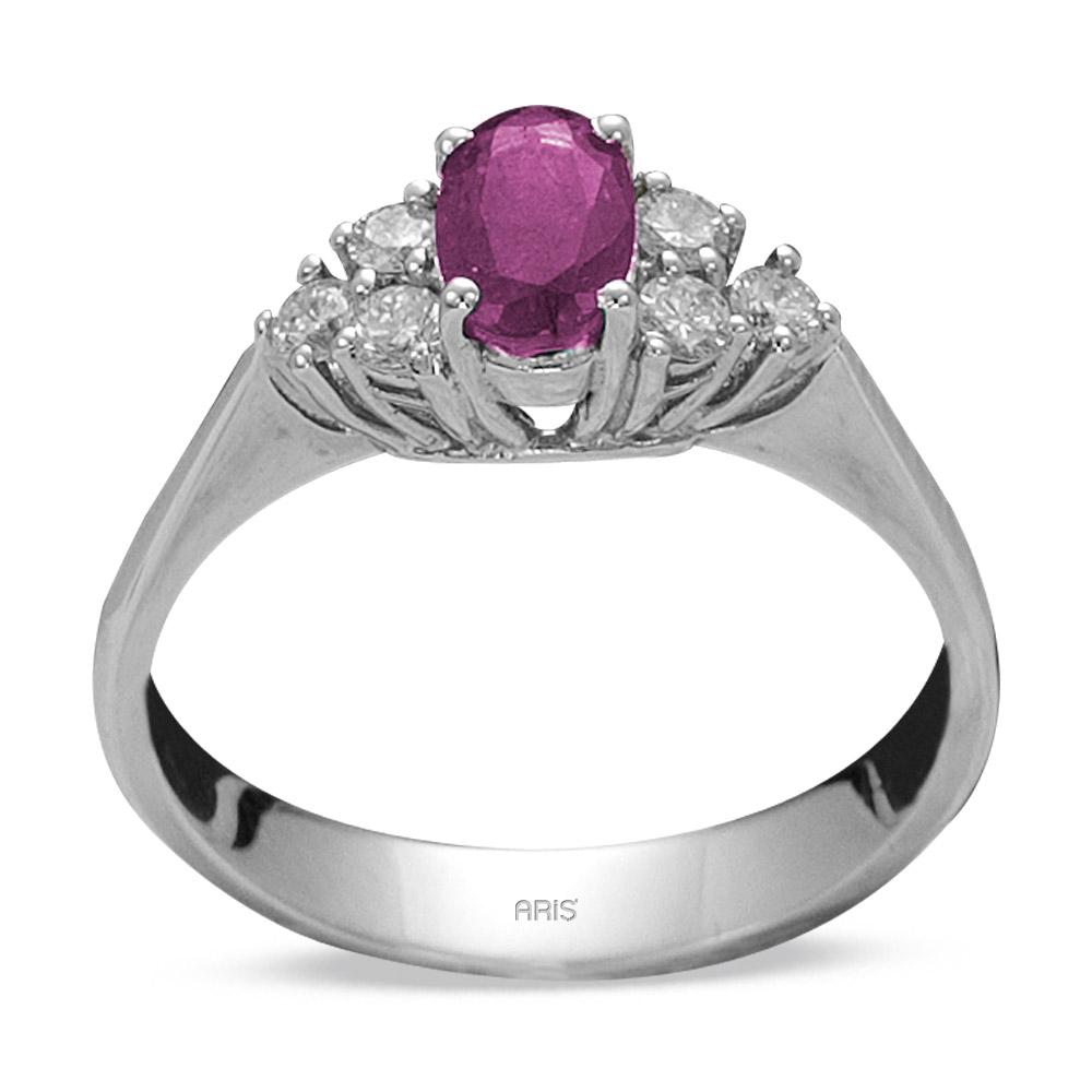 0,40 ct Amethyst Diamant Ring