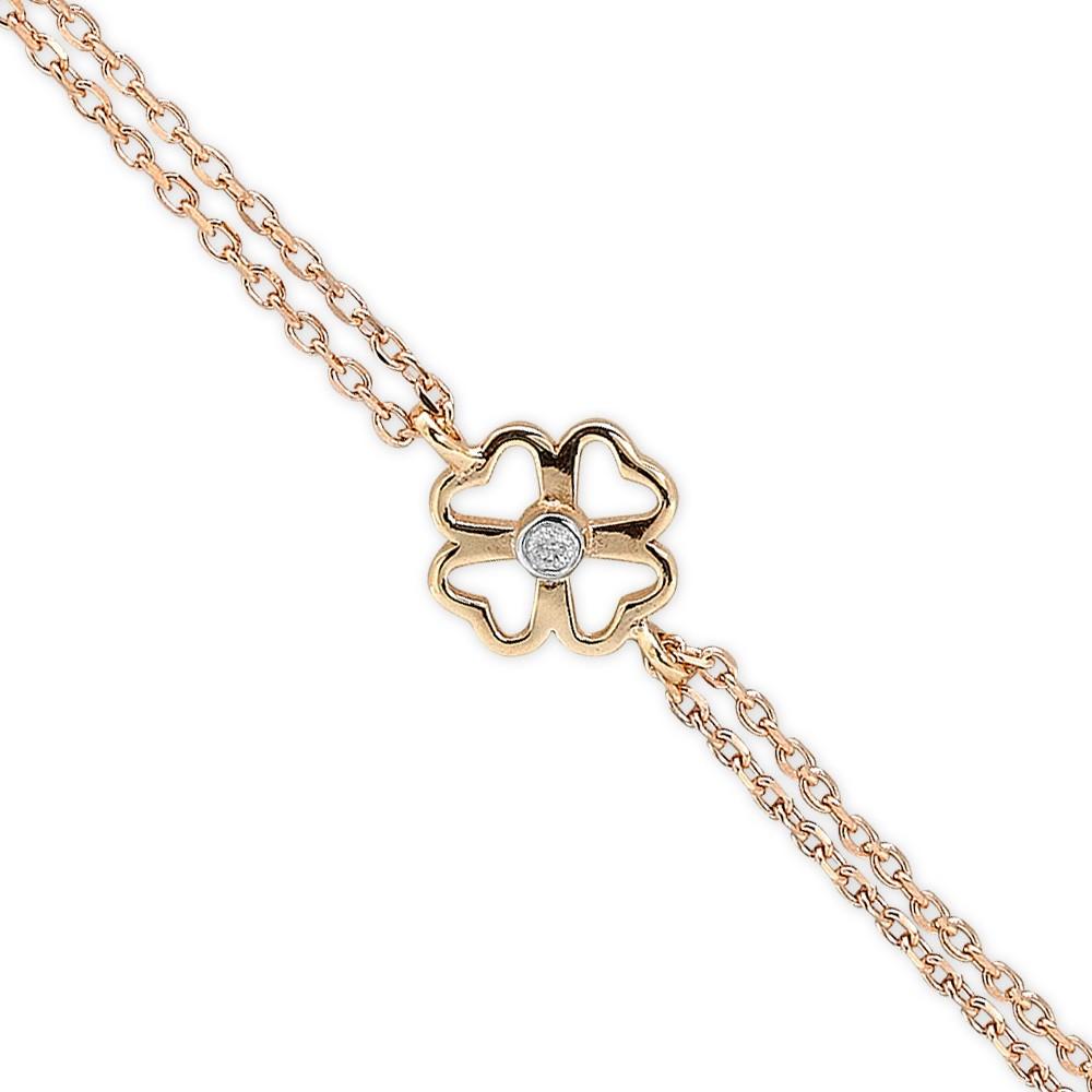 0,01 ct  Diamant Armband