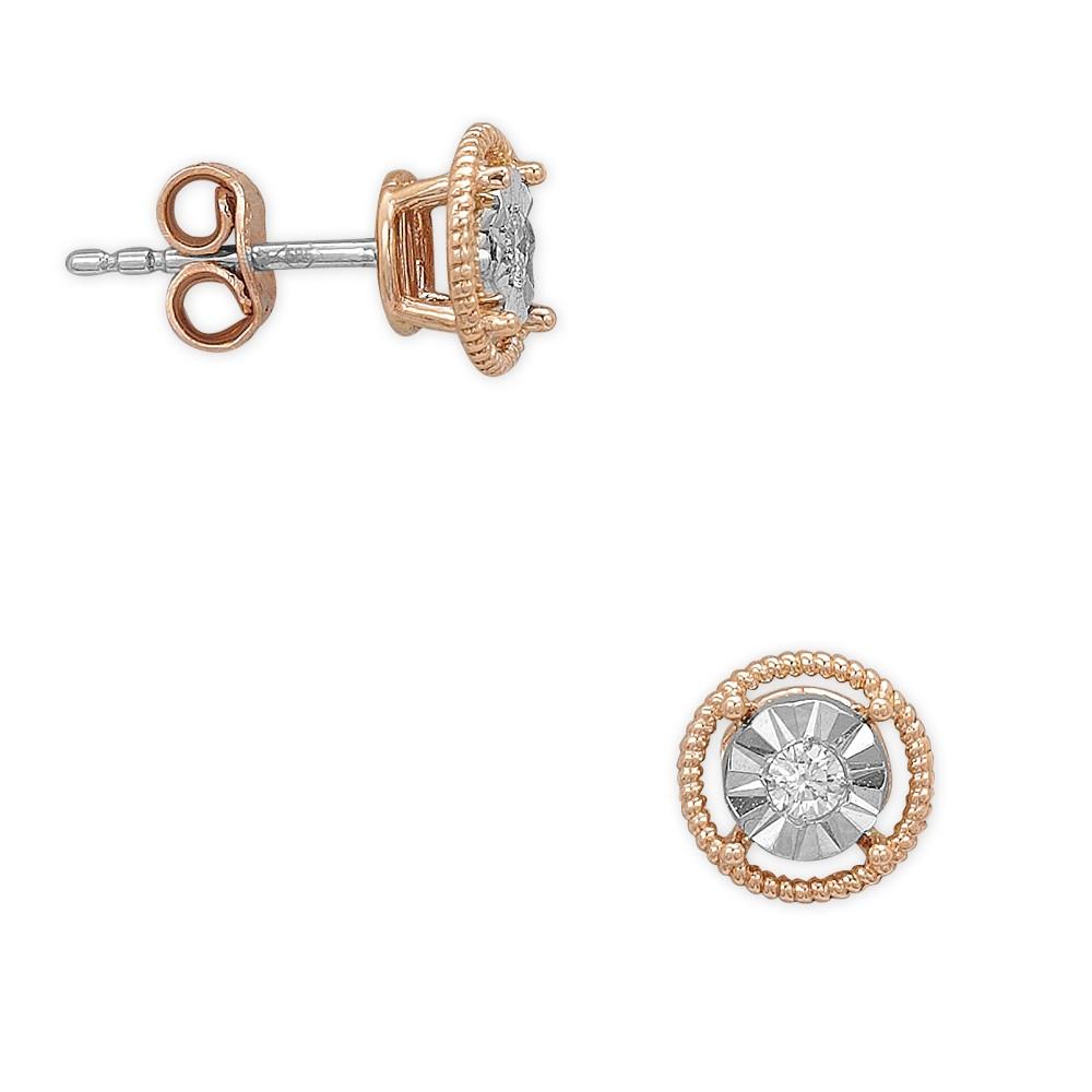0,10 ct  Diamant Ohrring