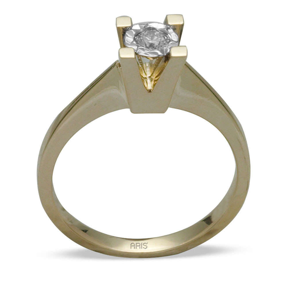 0,09 ct Miracle Solitärring (0.45 Ct.Ansicht)