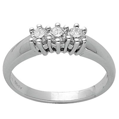 0,34 ct Diamant Tria Ring