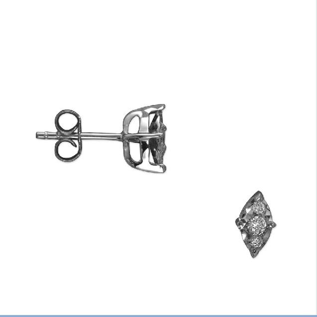 Diamant Ohrringe Ct. 0.17