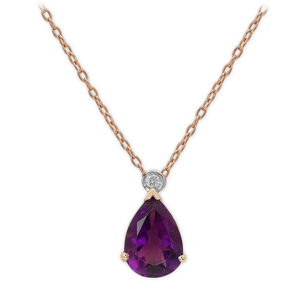1,20 ct Amethyst Diamant Kette