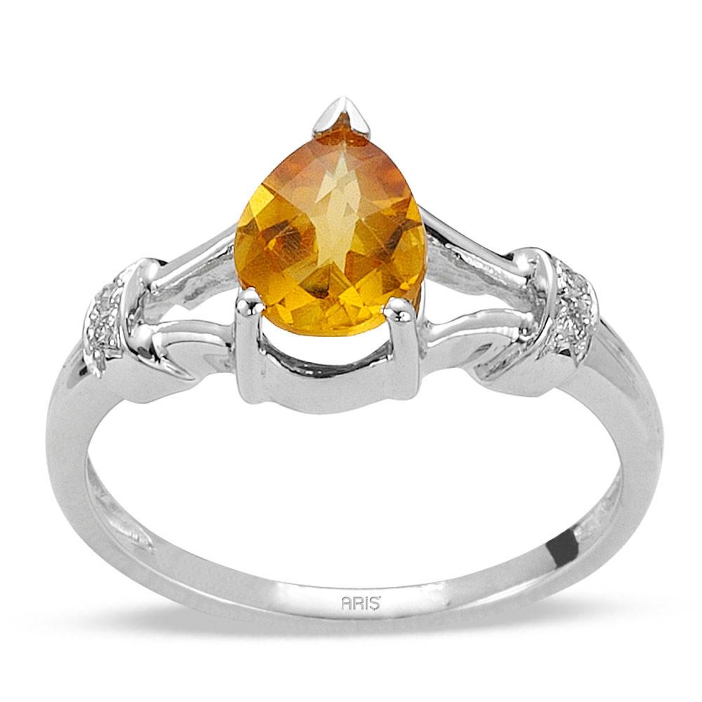 1,18 ct Sitrin Diamant Ring