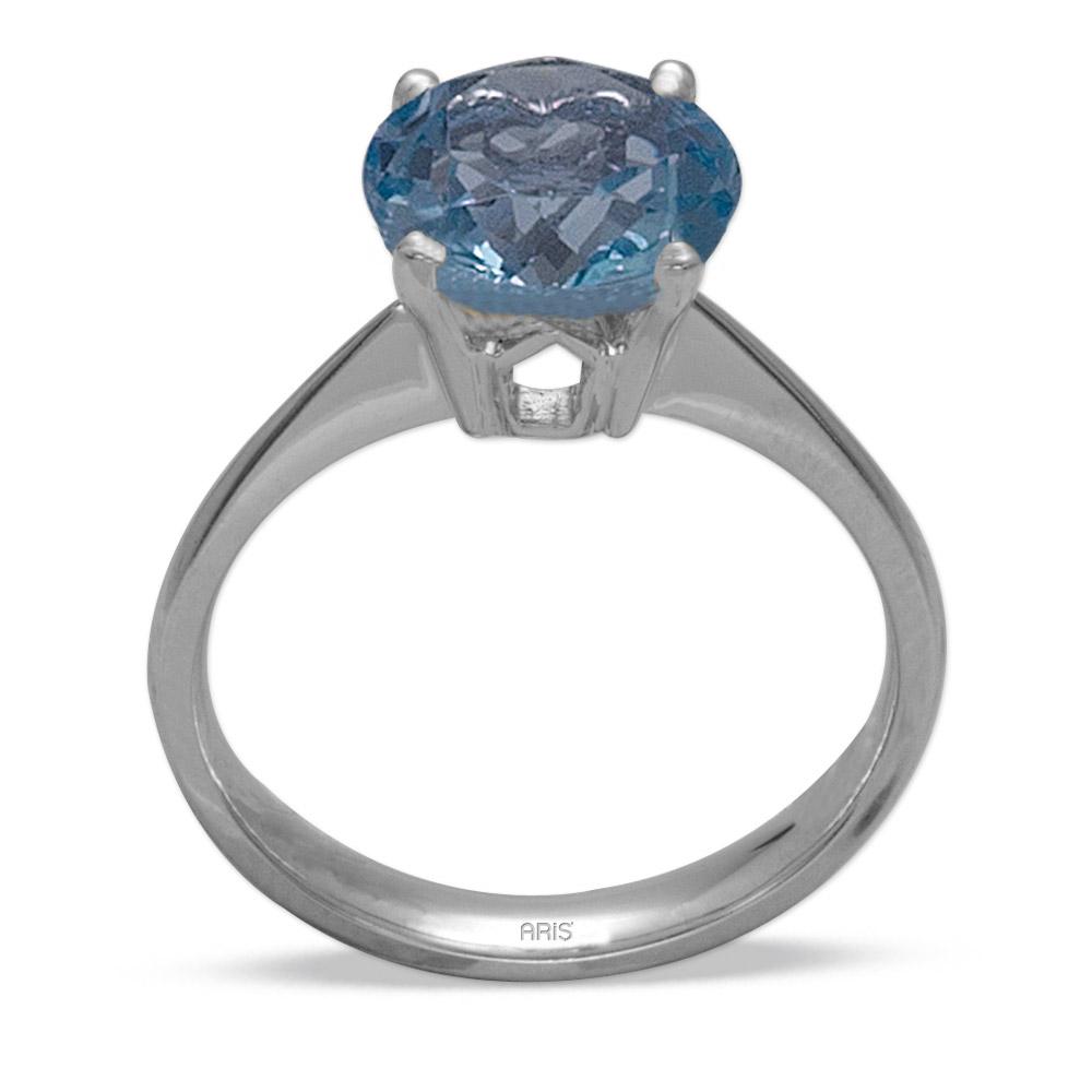 1,52 ct  Blautopas Ring