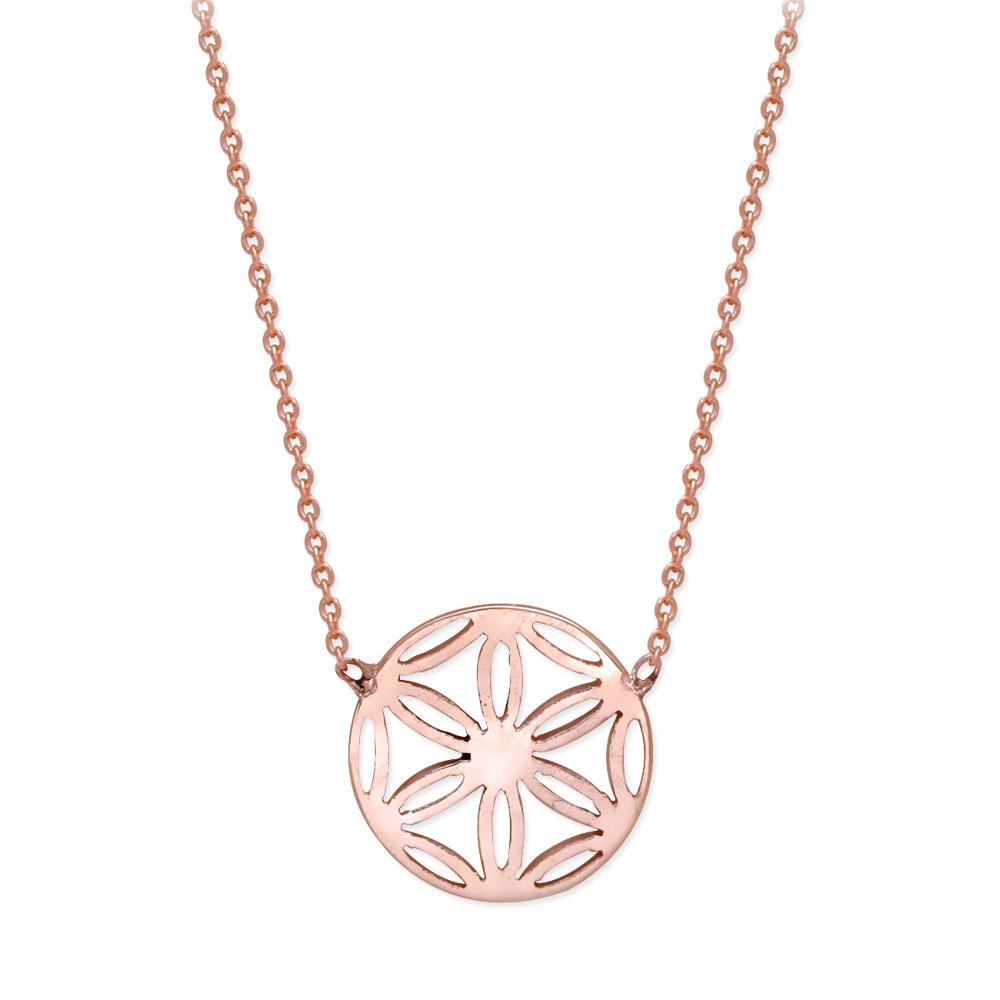 Blume des Lebens Gold Halskette