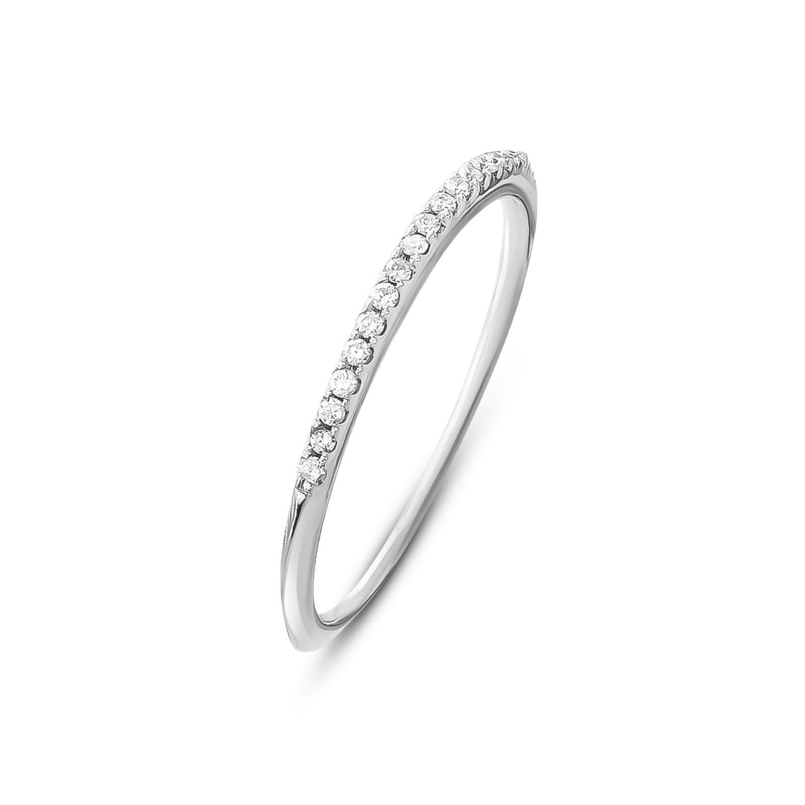 Memoire Brillant Ring Weissgold 0,07Ct.