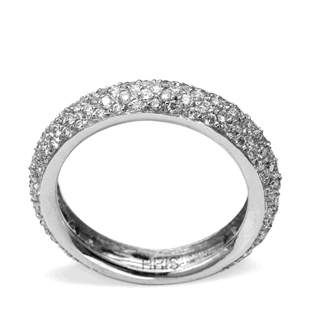 0,91 ct Diamant Memoire Ring