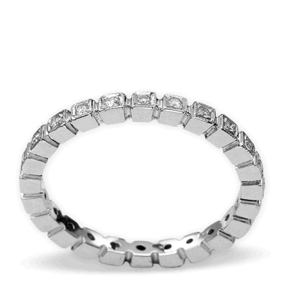 0,19 ct Diamant Memoire Ring