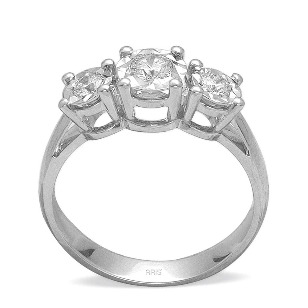 0.37 Ct.Miracle Diamant Ring Tria