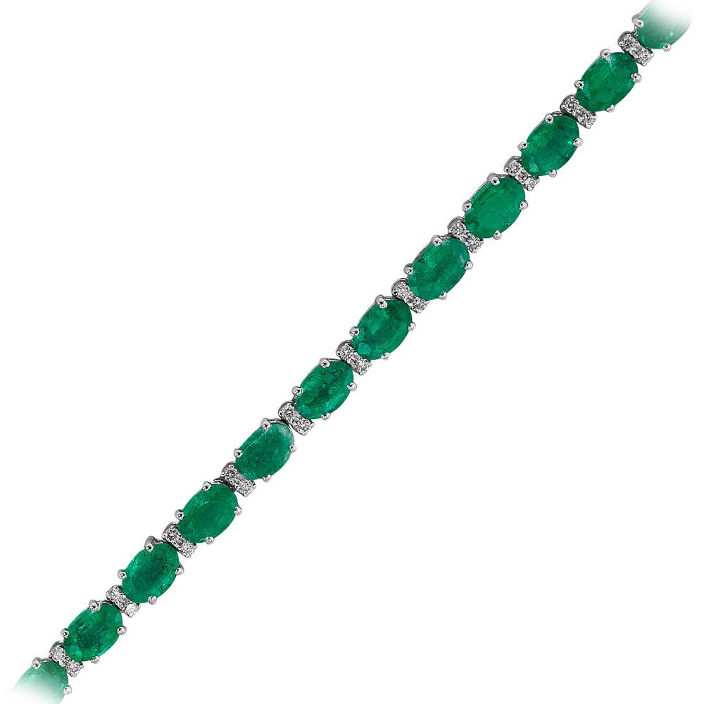 10,18 ct Smaragd Diamant Armband