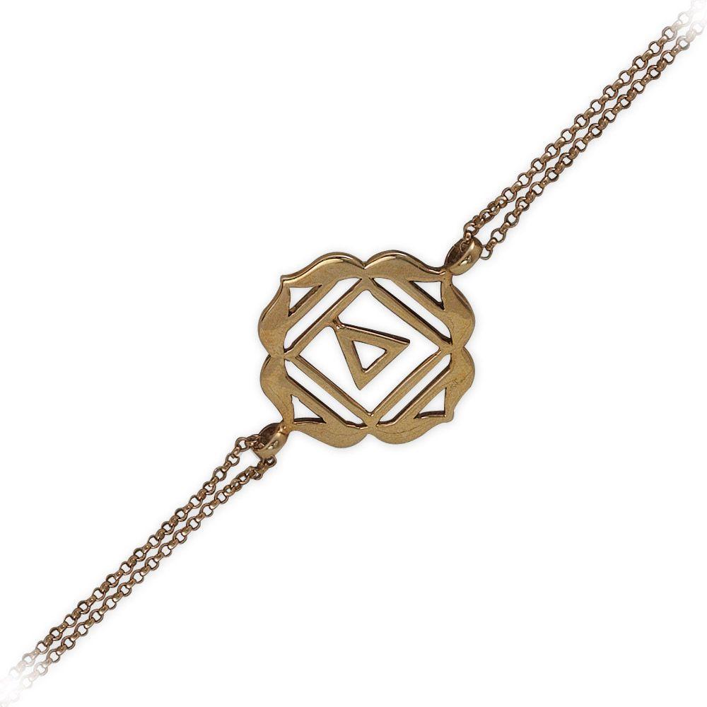585er  Rosegold Wurzelchakra Armband