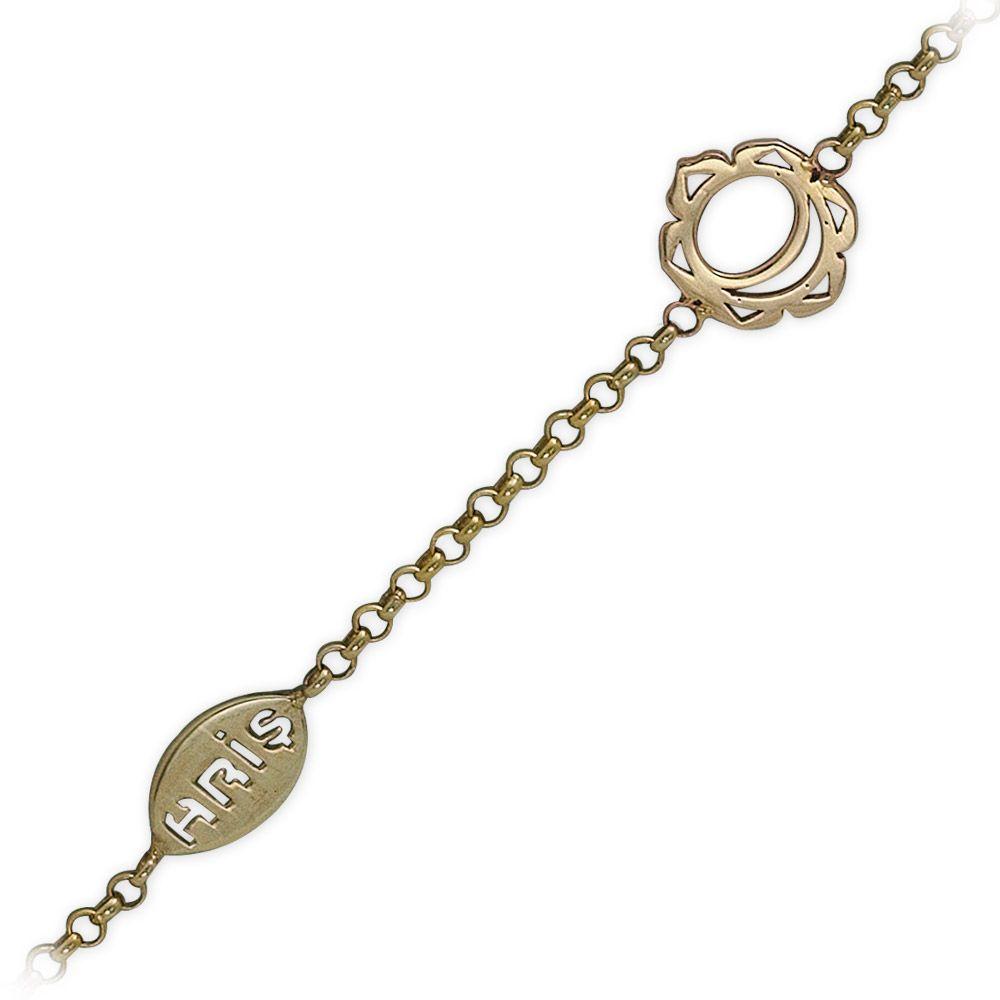 Das Sakralckackra Gold Armband