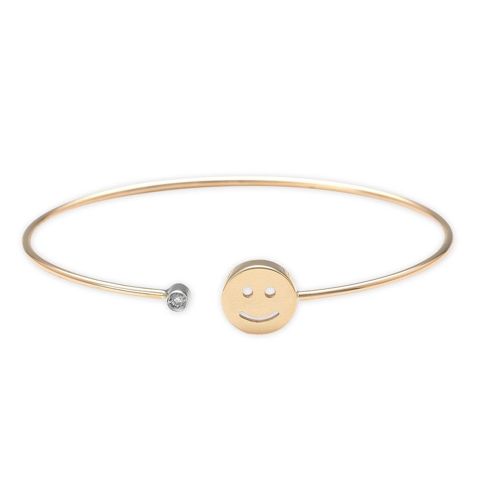0,02 ct  Diamant Smiley Armband