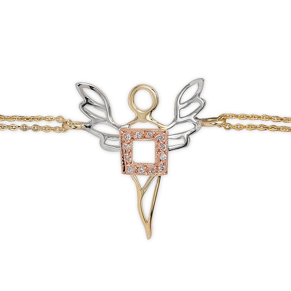 0,03 ct Diamant Erzengel des Wohlstands Ariel Armband
