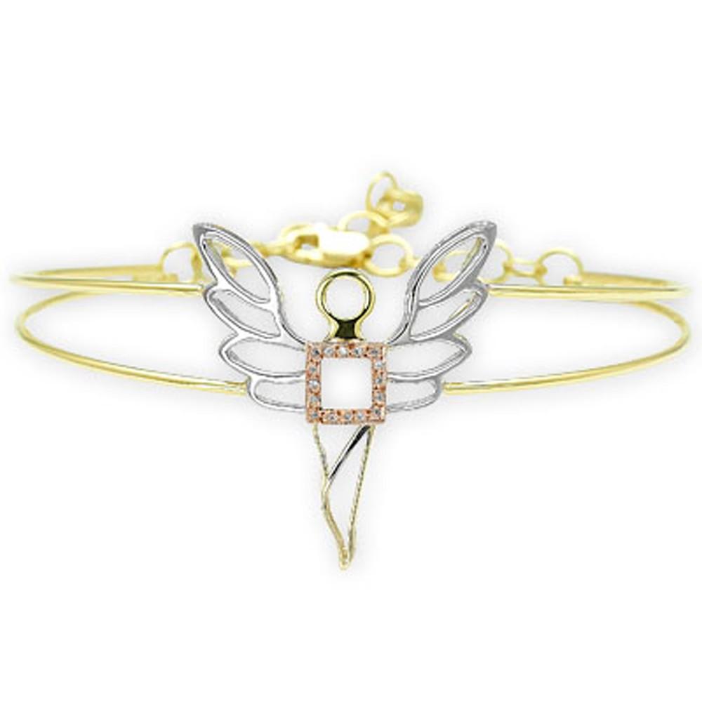 0,05 ct Diamant Erzengel des Wohlstands Ariel Armband