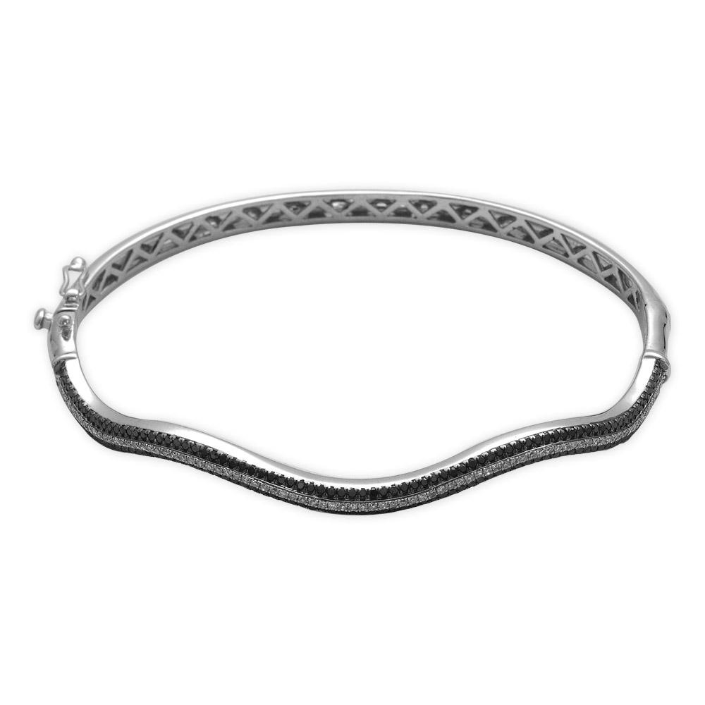 0,86 ct Schwarzweiss Diamant Armband