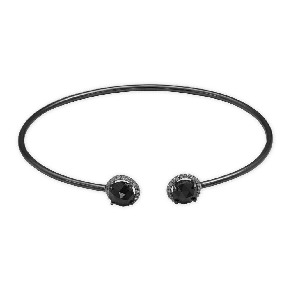 1,72 ct Schwarz Weiß Diamant Armband
