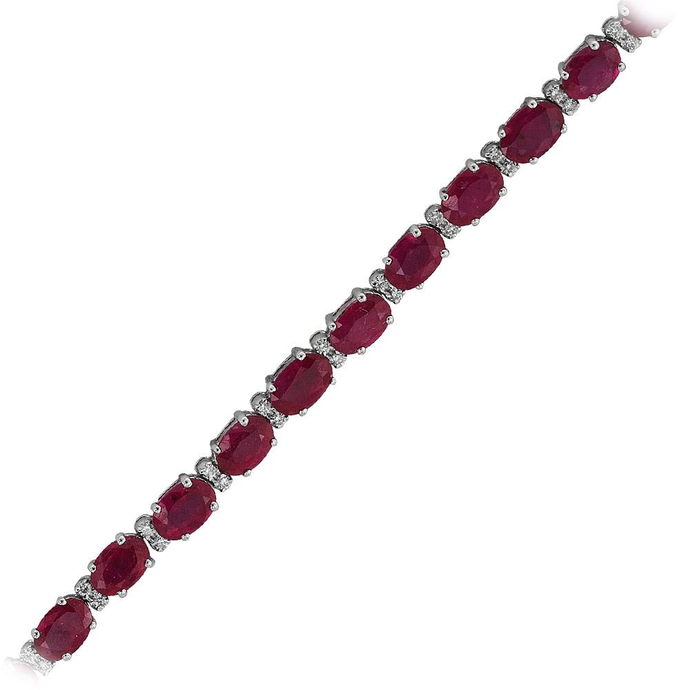 12,53 ct  Rubin Armband