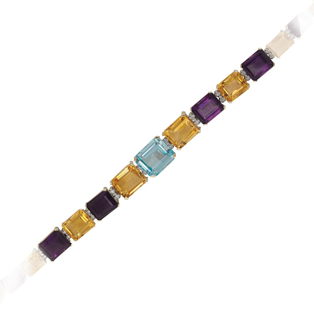 73,73 ct  Farbedelstein Armband
