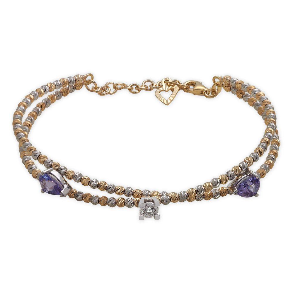 2,11 ct Amethyst Diamant Armband