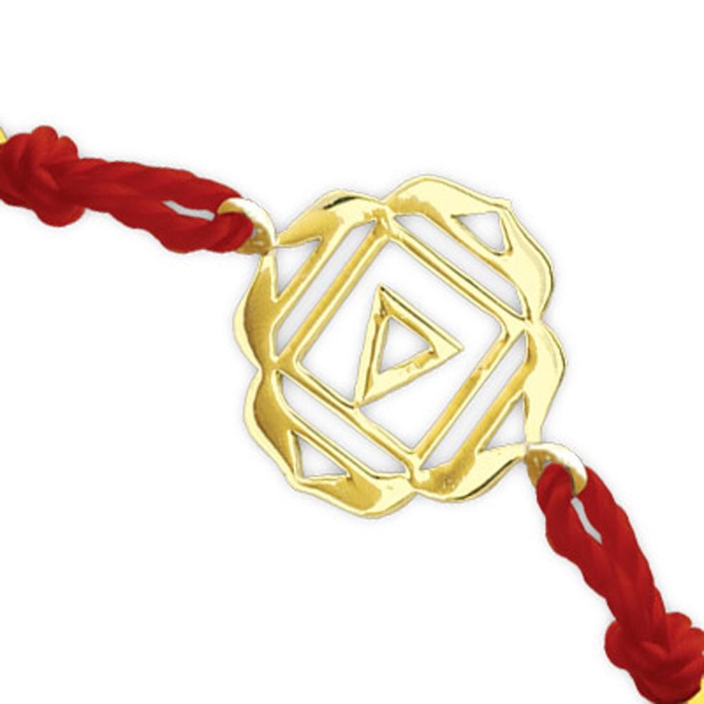 585er Gelbgold Wurzelchakra Armband
