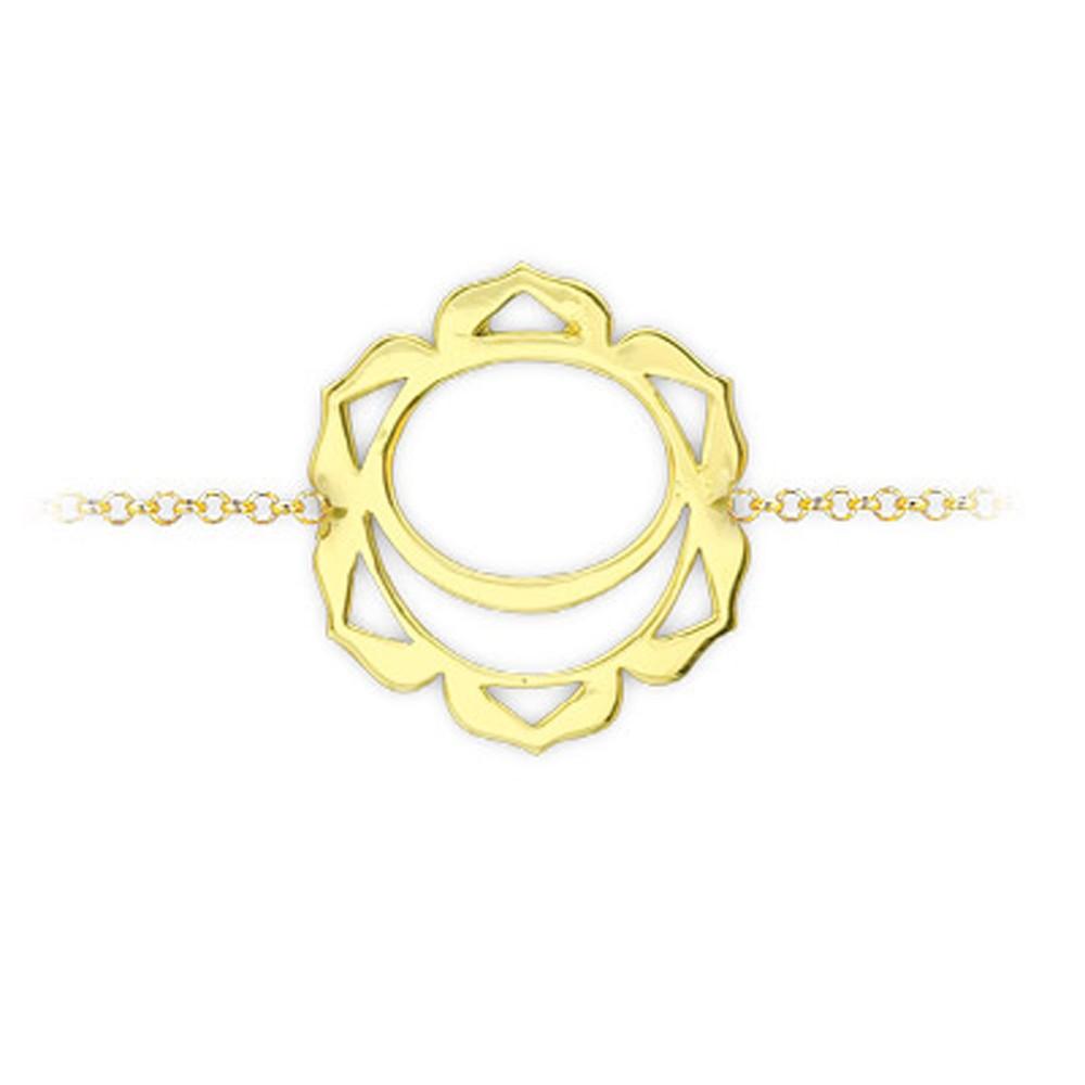 585er Gelbgold Chakra Armband
