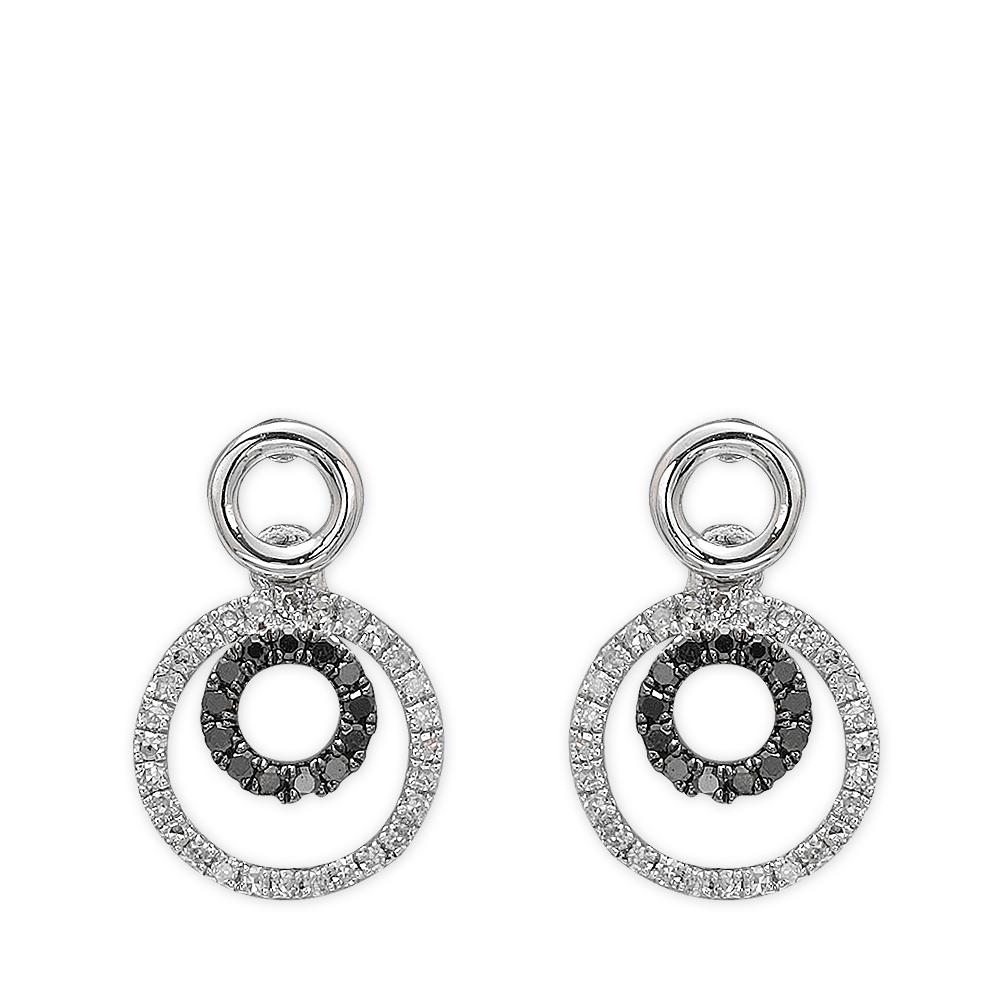0,22 ct Schwarz Weiß Diamant Ohrringe