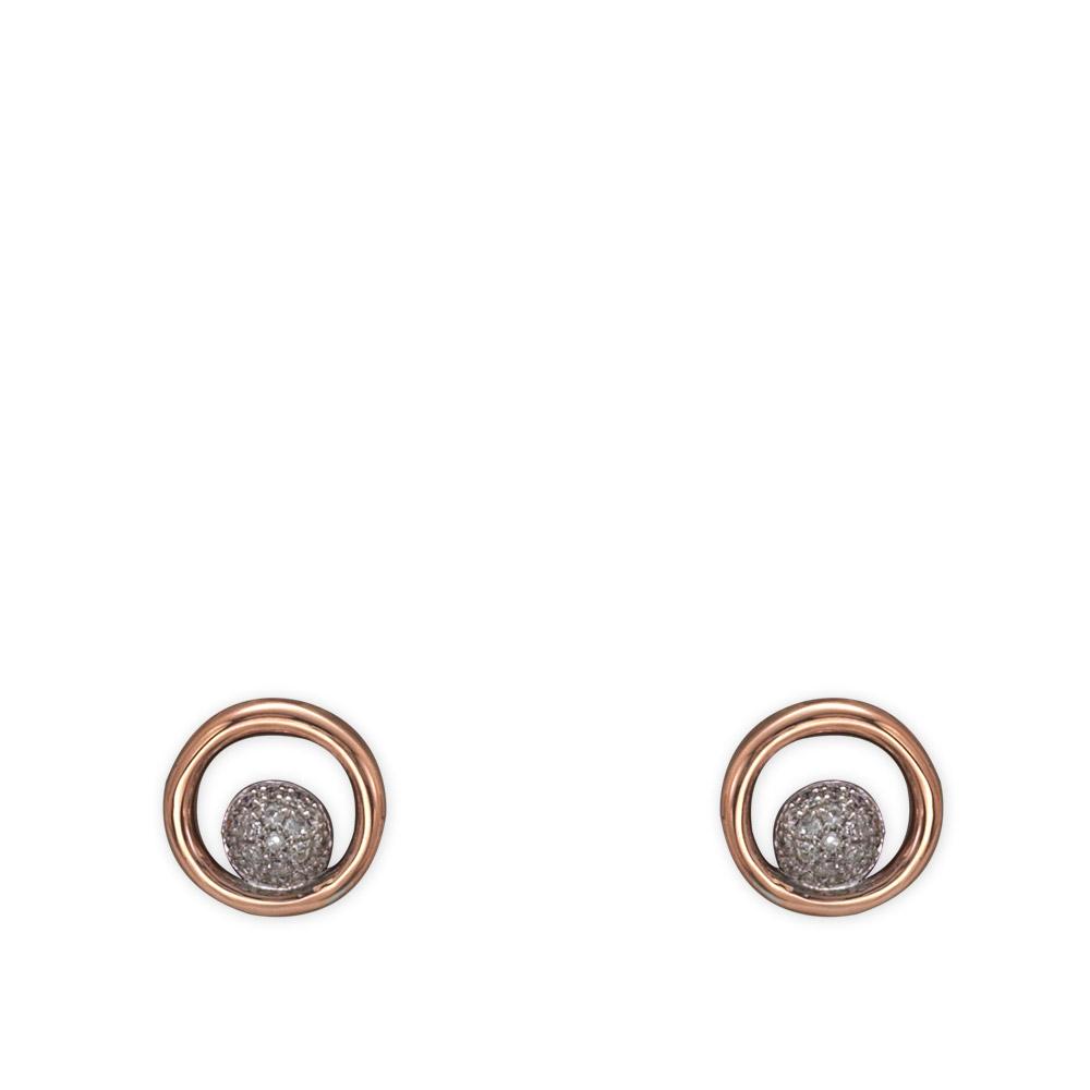 0,10 ct Diamant Kreis Ohrringe