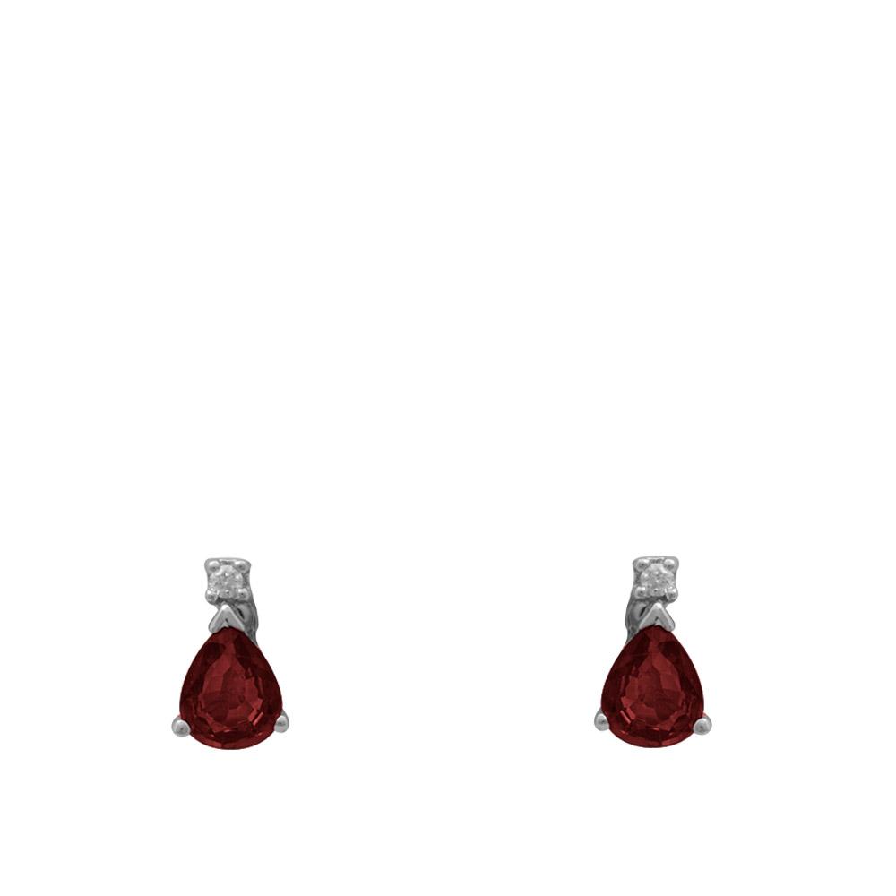 0,42 ct Rubin Diamant Ohrringe
