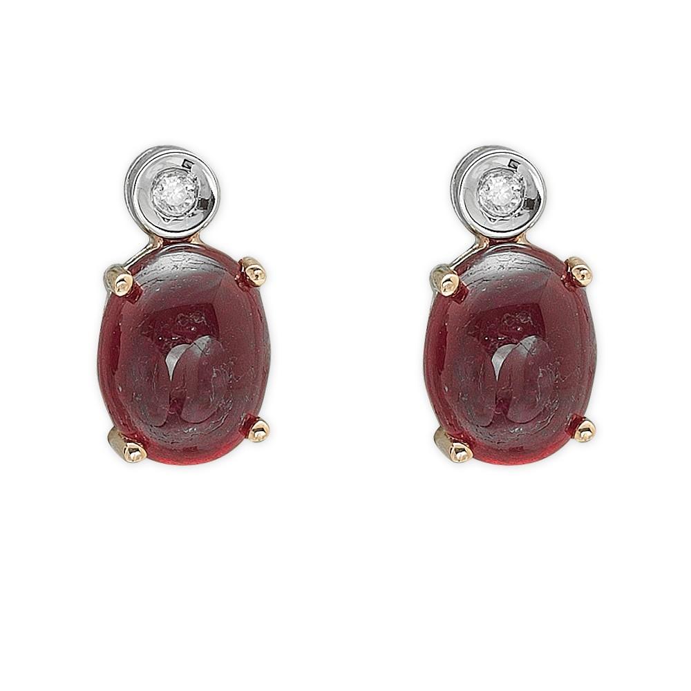 3,36 ct Rubin Diamant Ohrringe