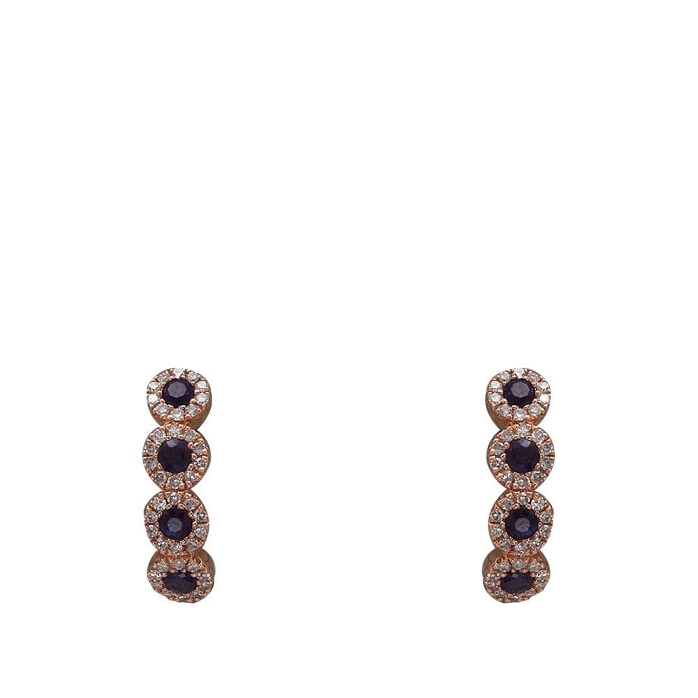 0,40 ct Saphir Diamant Ohrringe