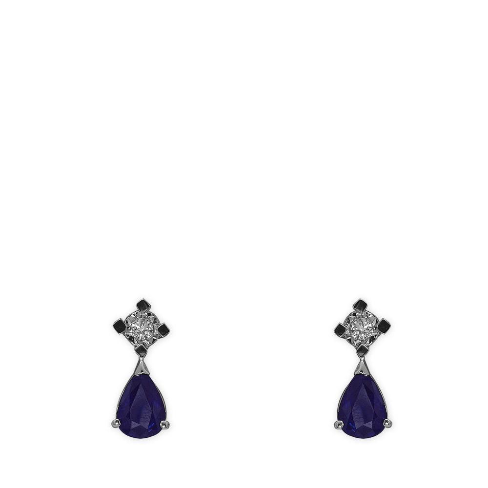 1,76 ct Saphir Diamant Miracle Ohrringe