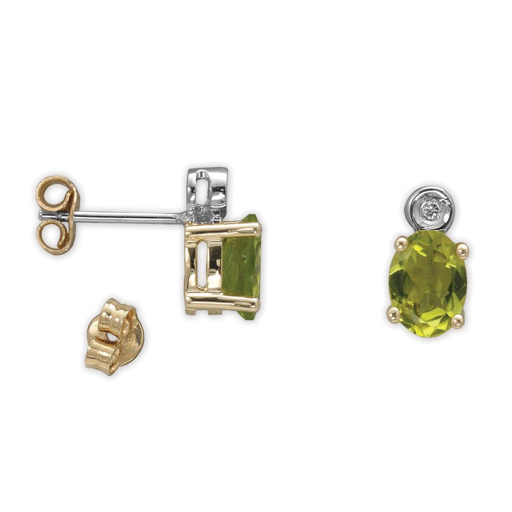 2,42 ct  Peridot Ohrring