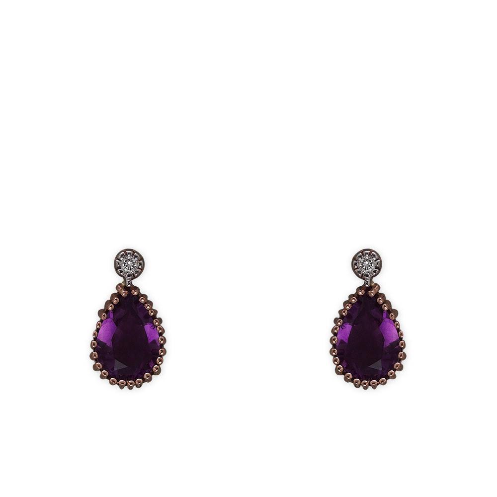 1,88 ct Amethyst Diamant Ohrringe