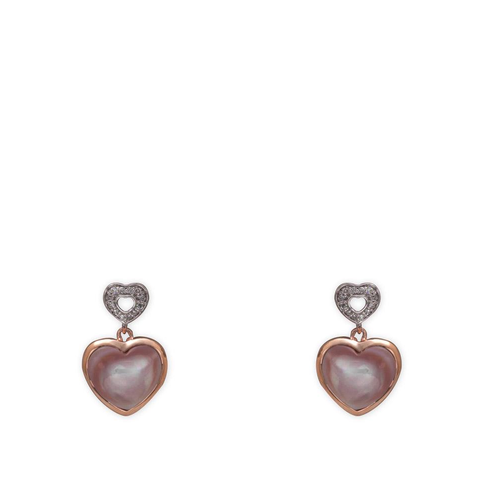 2,23 ct Perle Diamant Ohrringe