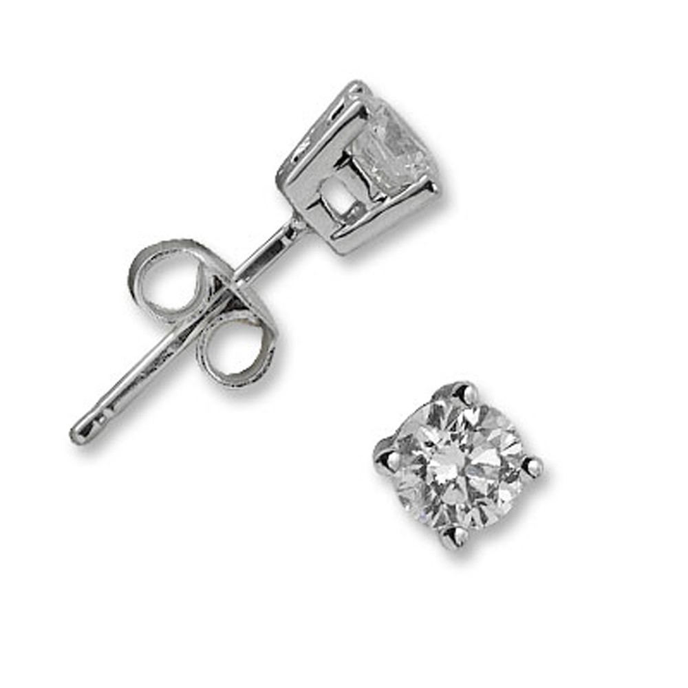 0,26 ct  Diamant Solitärohrring