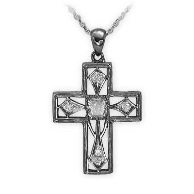 0,31 ct Diamant Kreuz Kette