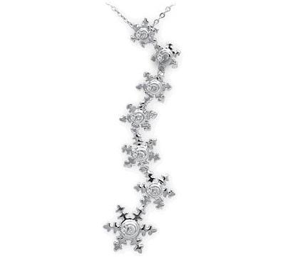 0,05 ct Diamant Schneeflocken Kette