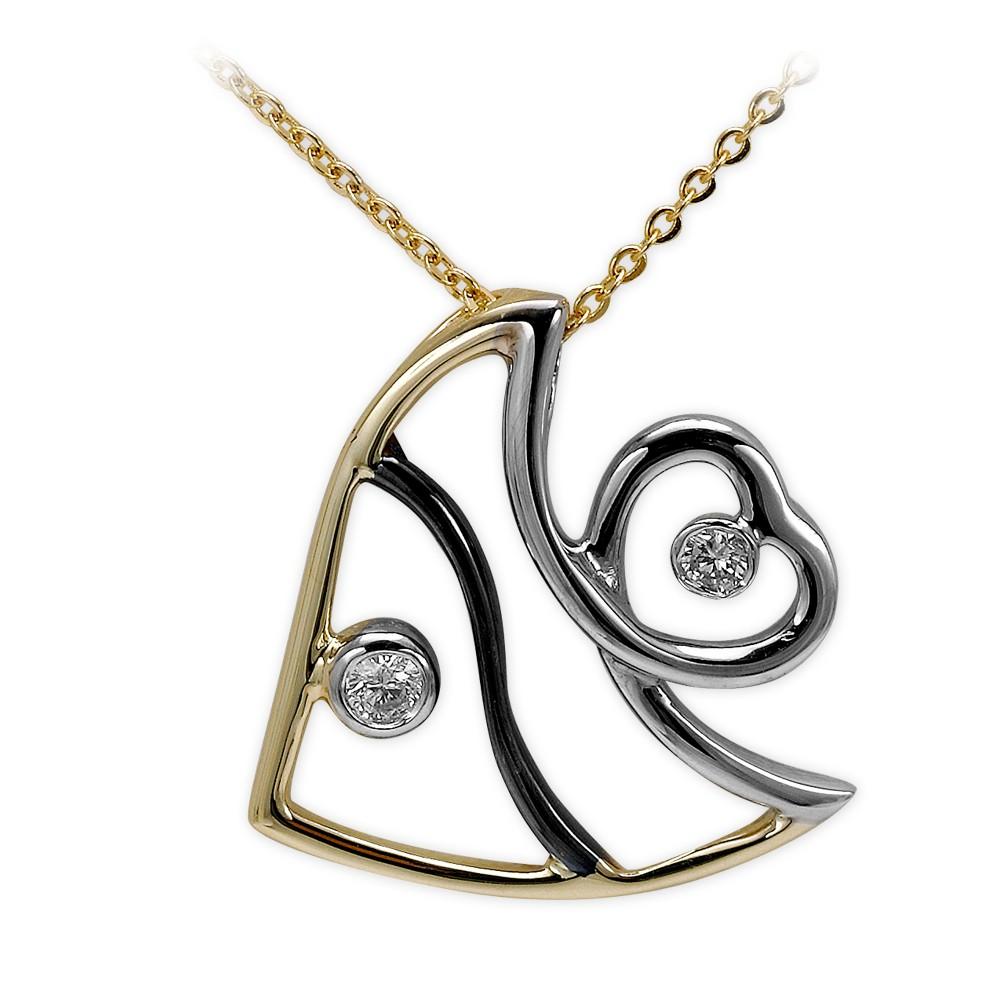 0,04 ct  Diamant Kette