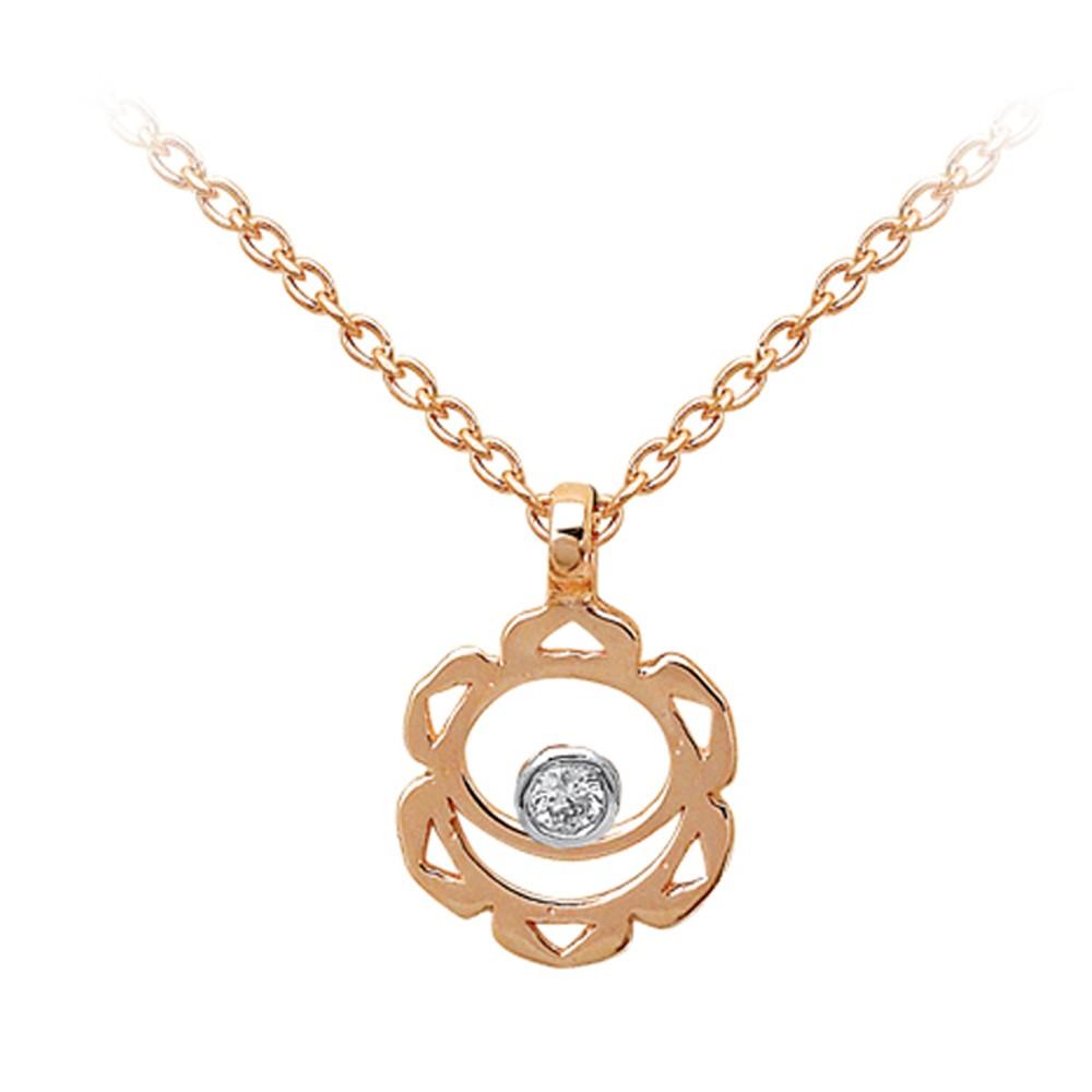 0,01 ct Diamant Sakralchakra Kette
