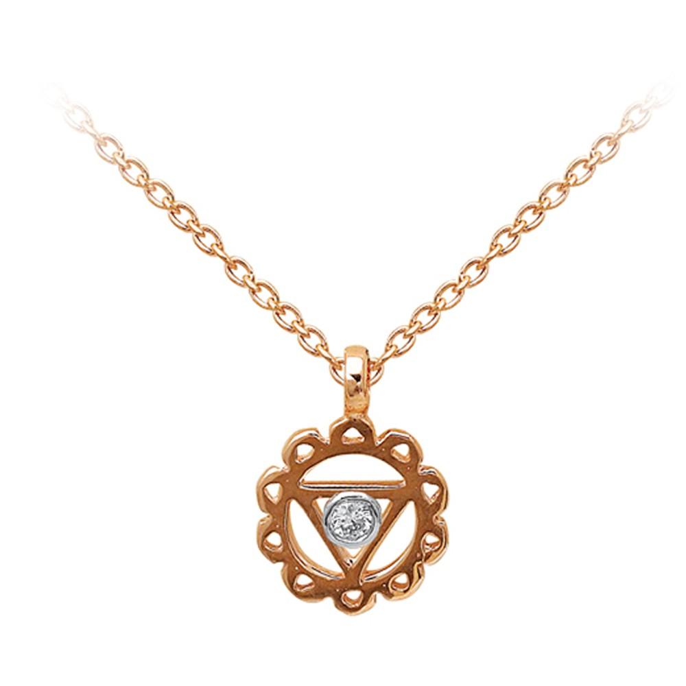 0,01 ct Diamant Nabelchakra Kette