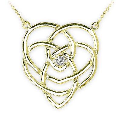 0,02 ct Diamant Keltknoten Kette