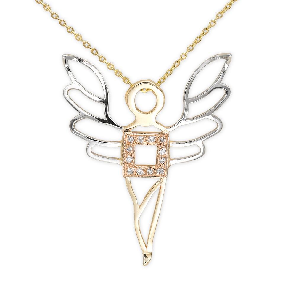 0,03 ct Diamant Erzengel des Wohlstands Kette - Ariel